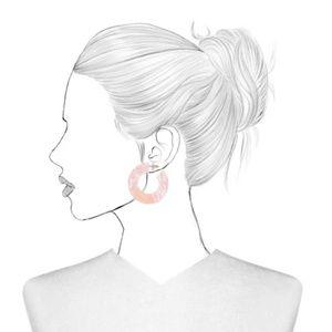 BaubleBar Jewelry - SUGARFIX by BaubleBar Two-Tone Resin Hoop Earrings